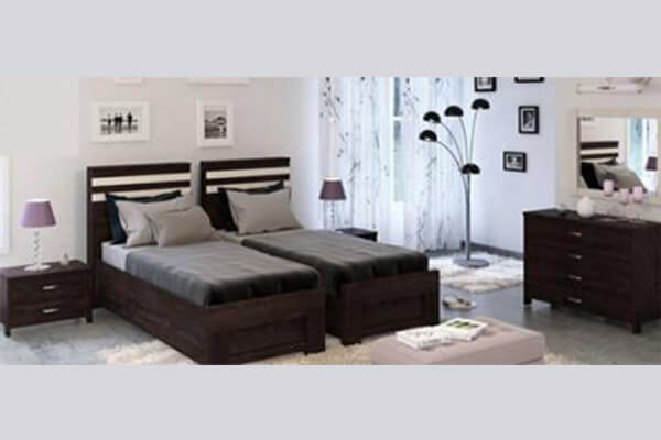 חדר שינה עם הפרדה יהודית דגם מיאמי