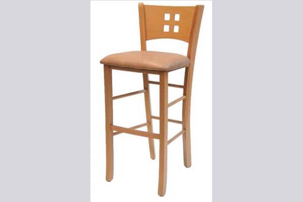 כיסא בר מעץ דגם דומינו
