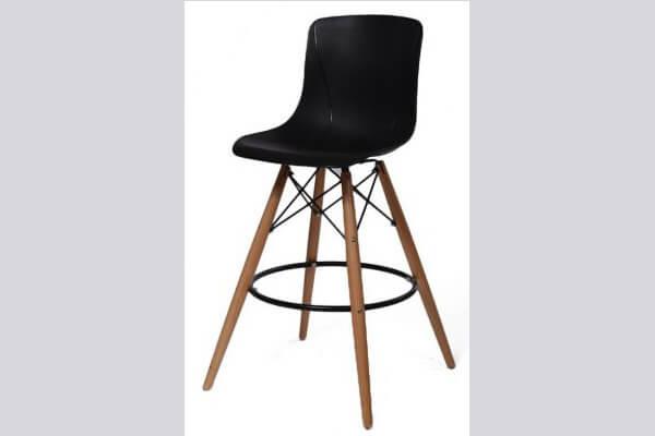 כיסא בר מעץ דגם יונתן רגל עץ סיני