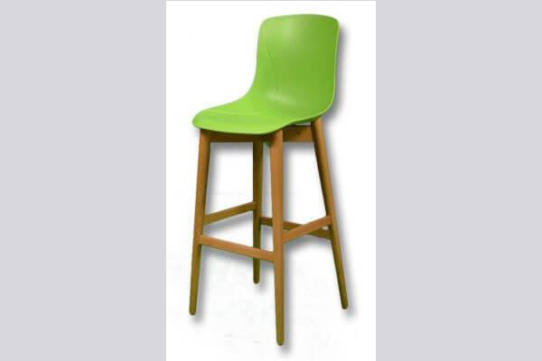 כיסא בר מעץ דגם יונתן רגל קונוס
