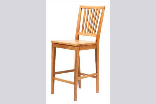 כיסא בר מעץ דגם מארי עץ אלון