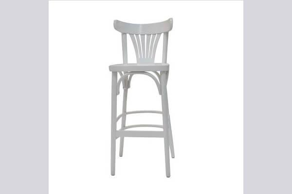 כיסא בר מעץ דגם מניפה