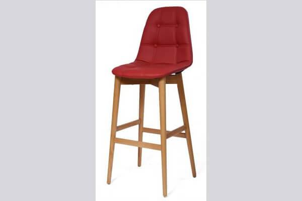 כיסא בר מעץ דגם נועם רגל קונוס