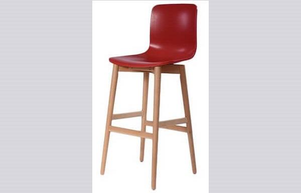 כיסא בר מעץ דגם רומאו רגל קונוס