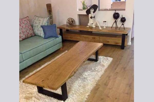 מזנון מעוצב ושולחן לסלון דגם אוסקר