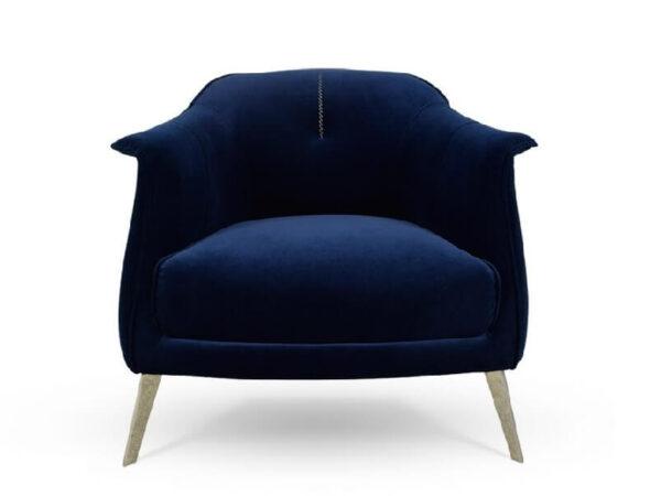כורסא מעוצבת ריפוד בד קטיפה איכותי דגם 1218