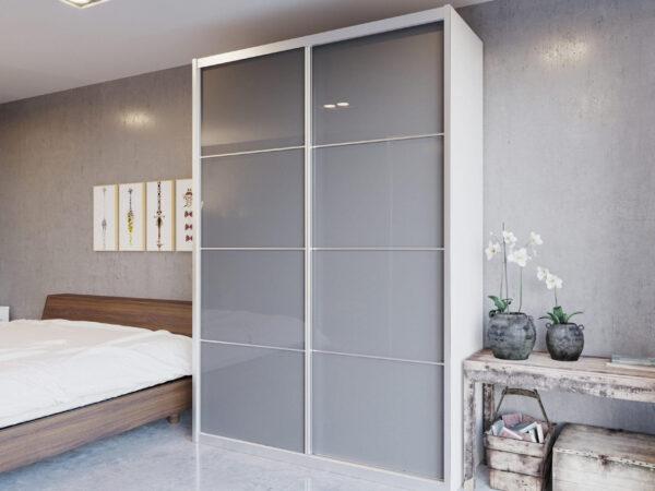 ארון הזזה דגם HG2150VN דלתות high gloss כולל חיפוי אלומיניום