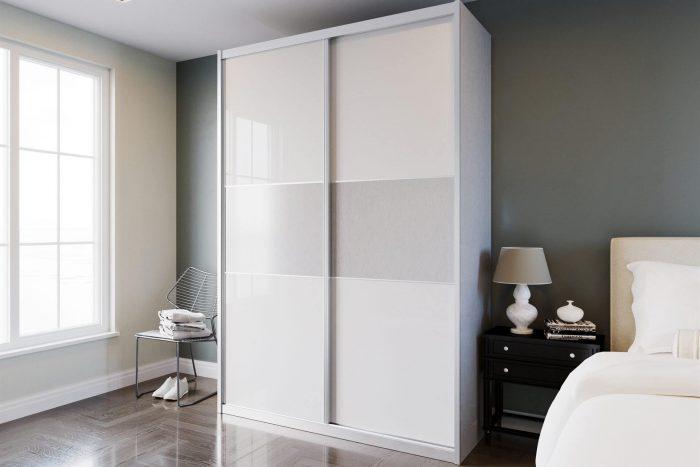 ארון הזזה 2 דלתות דגם HG3143 דלתות high gloss