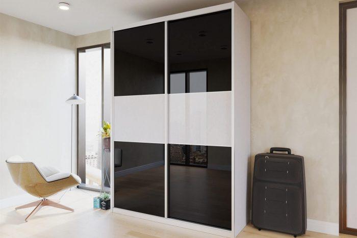 ארון הזזה דגם HG3151 דלתות High Gloss כולל חיפוי אלומיניום