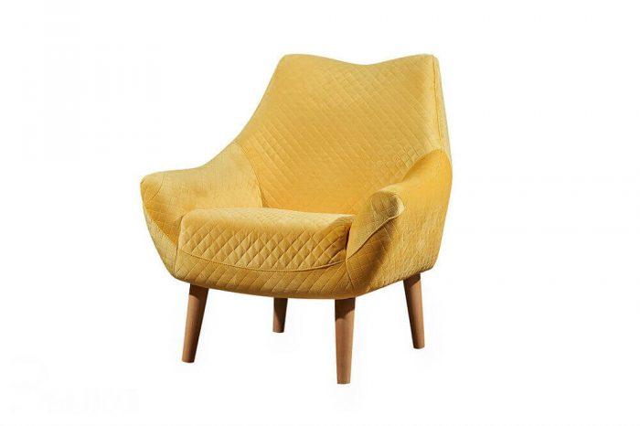כורסא מעוצבת ריפוד בד קטיפה דגם RB451