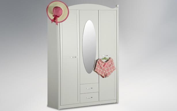 ארון ילדים 3 דלתות דגם לילי
