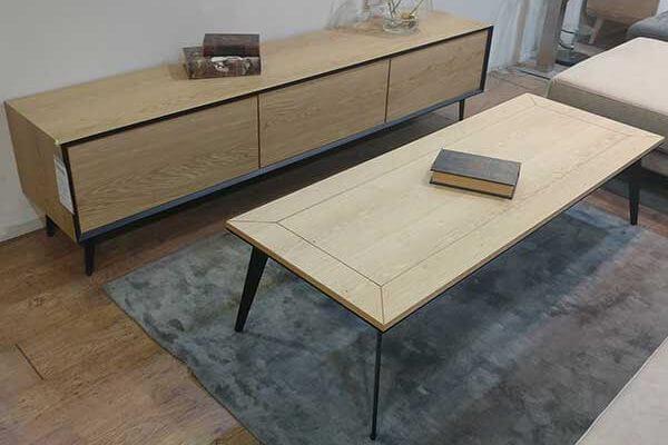 מזנון מעוצב ושולחן לסלון דגם לייזר