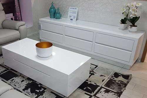 מזנון מעוצב ושולחן לסלון דגם ברי
