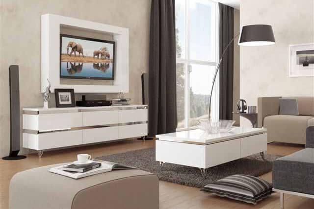 מזנון ושולחן לסלון דגם ברזיל
