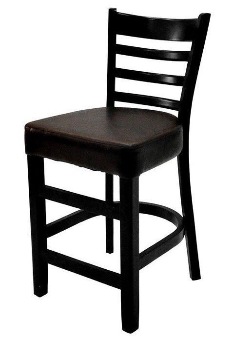 כיסא בר מעץ דגם חצב