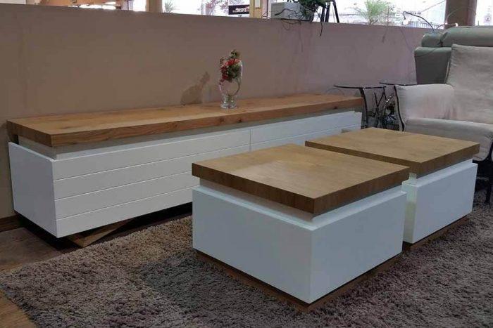 מזנון ושולחן לסלון דגם לינוי