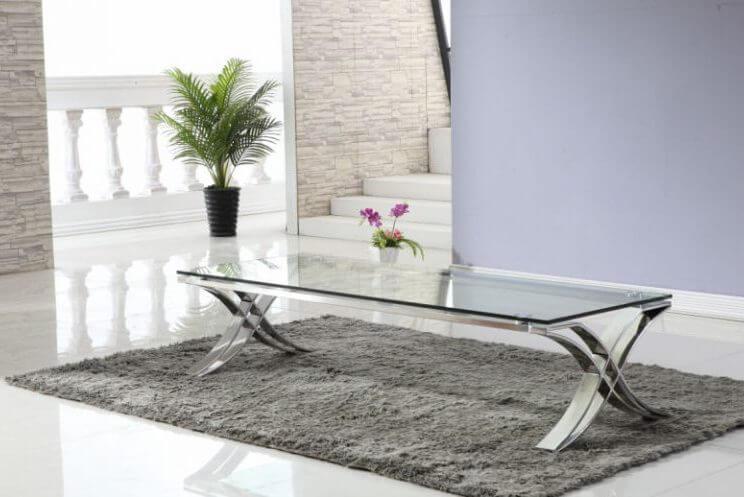 שולחן סלון זכוכית 063RB