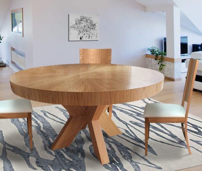 פינת אוכל שולחן אלון דגם 75003RB
