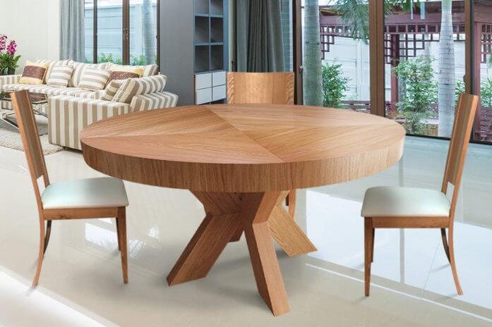 פינת אוכל שולחן אלון דגם יהלום 75005RB