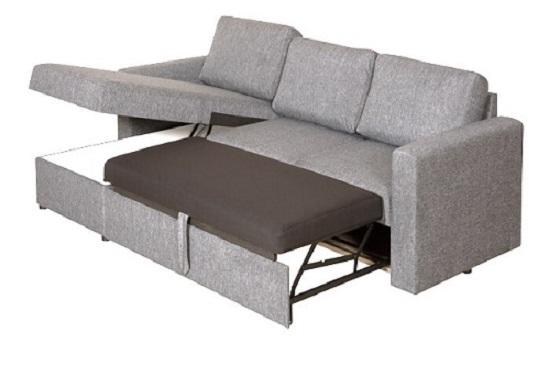 סלון קפיצים פורטלנד פינתי הכולל שזלונג עם מיטה וארגז מצעים גדול vs