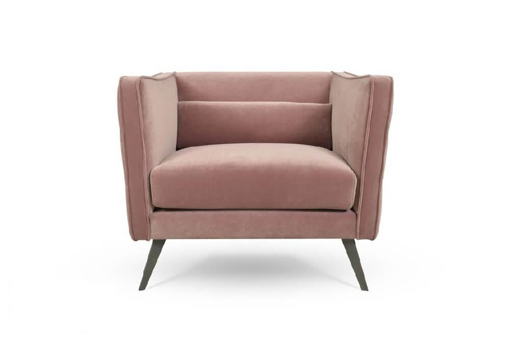 כורסא מעוצבת ריפוד בד קטיפה איכותי דגם 1411RB