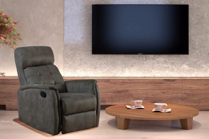 כורסת טלויזיה אורתופדית הכוללת מנגנון נדנוד נפתח כריקליינר דגם 6009VN