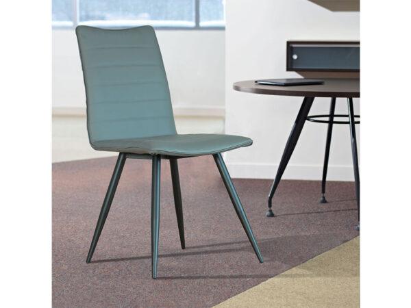כסא אפור כהה עץ אלון מלא דגם מרטין vn
