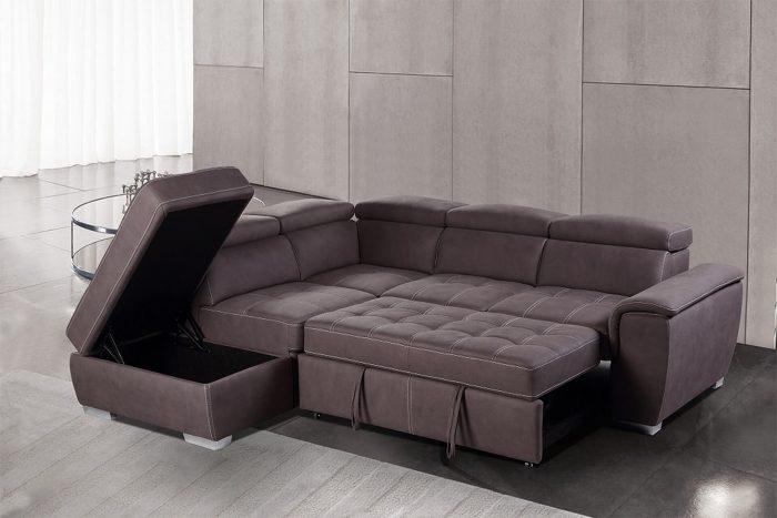 מערכת ישיבה פינתית נפתחת למיטה דגם פרארי vn