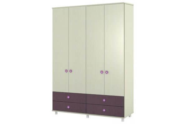 ארון דלתות פתיחה על במה+קרניז עם 4 מגירות דגם vn C8