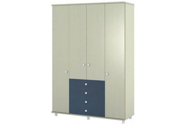 ארון דלתות פתיחה על במה +קרניז עם 4 מגירות דגם – vn C5