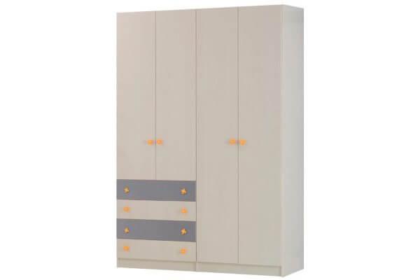 ארון דלתות פתיחה עם 4 מגירות עולות על סוקל דגם vn C10