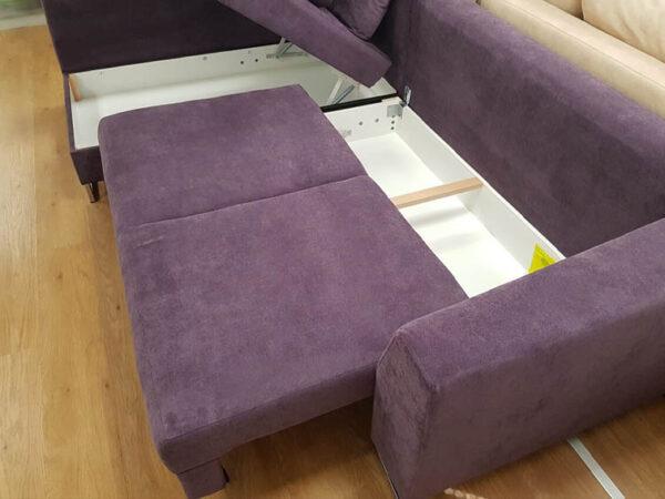 מערכת ישיבה סלון פינתי ומודרני נפתחת סטילו – zil