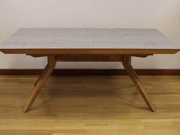 שולחן פינת אוכל אלון טבעי / דמוי בטון דגם פירנצה-vs