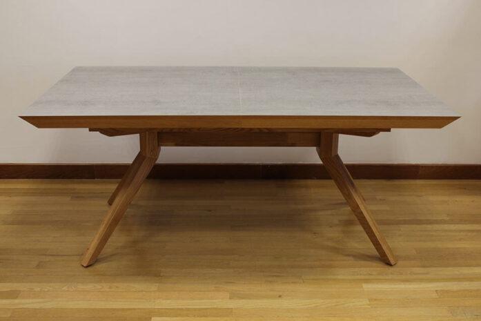 שולחן פינת אוכל אלון טבעי דמוי בטון דגם פירנצה-vs