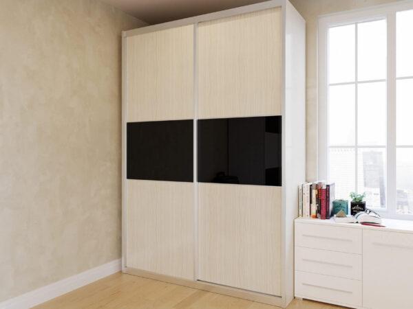 ארון הזזה דגם HG2157VN דלתות High Gloss כולל חיפוי אלומיניום