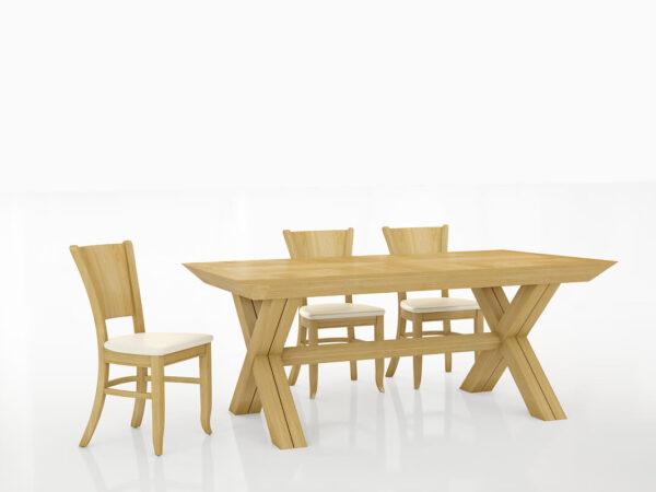 שולחן אוכל אלון טבעי דגם פיזה vs