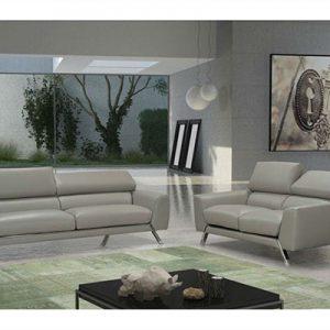 מערכת ישיבה סט 3+2 ריפוד עור מלא תוצרת איטליה דגם 5000