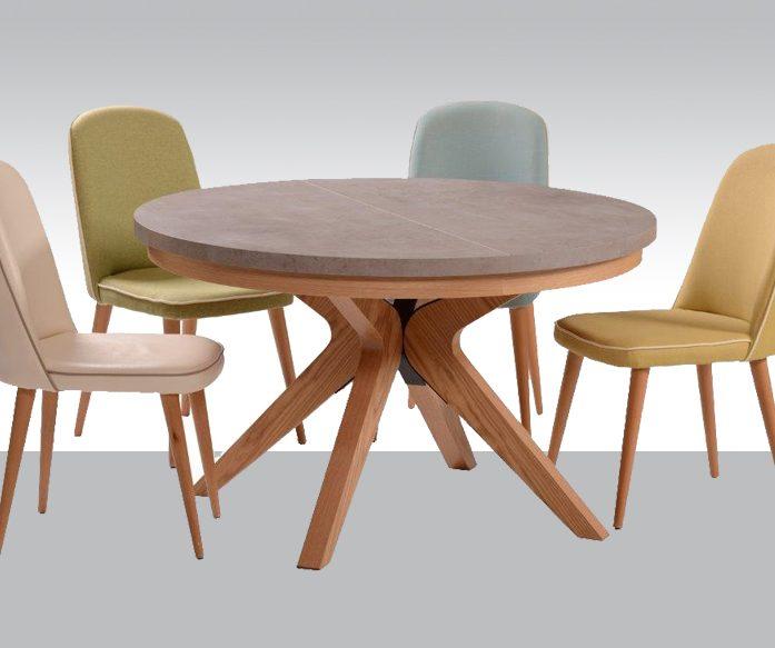 שולחן אוכל דגם רודנה