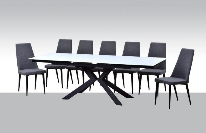 שולחן אוכל דגם נגבה + 6 כסאות
