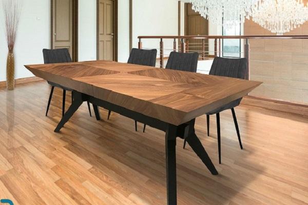 שולחן פינת אוכל מעוצב דגם אלוני אגוז אמריקאי
