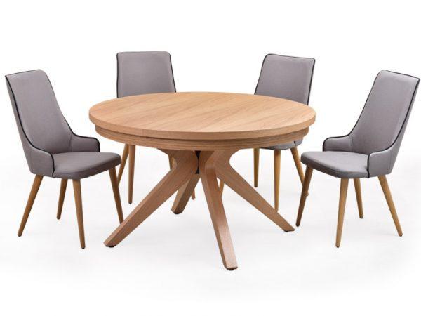 שולחן אוכל דגם רונדה VS